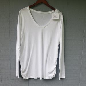 Isabel Maternity Solid White NWT XXL Long Sleeve